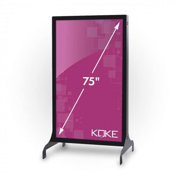 75 Zoll Screen, 1,54 m², Outdoor-Stele